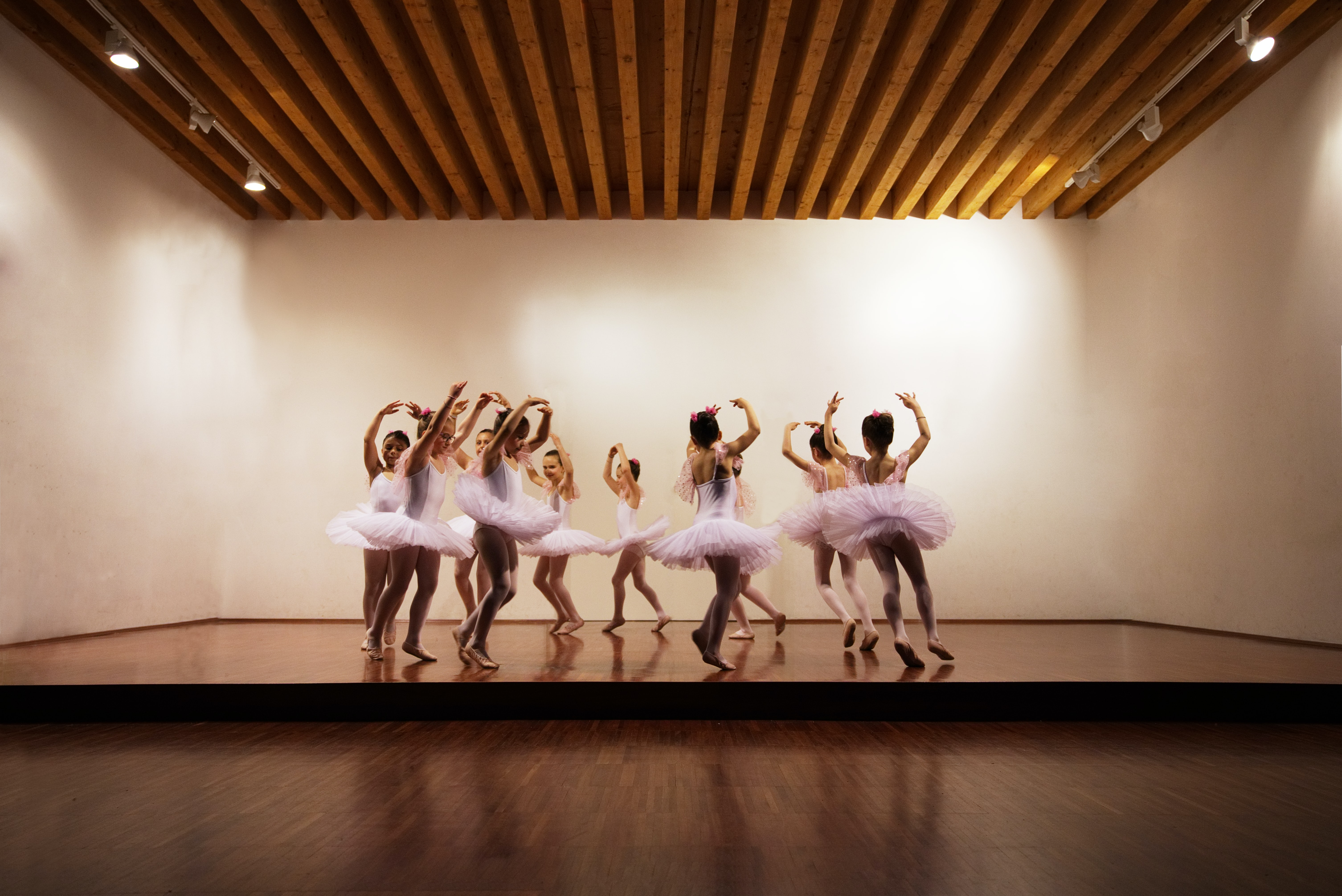 young ballerinas on a stage